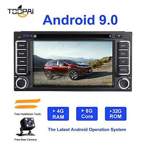Android Autoradio Stereo, ZLTOOPAI Für Toyota Land Cruiser 100 200 Prado 120 150 Ansturm Corolla Hiace Yaris Hilux Android 9,0 Octa Core 4G RAM 32G ROM Auto Stereo GPS Radio DVD-Player
