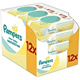 Pampers New Baby Sensitive Wet Wipes, Pack of 12 (12 x 50 pieces)