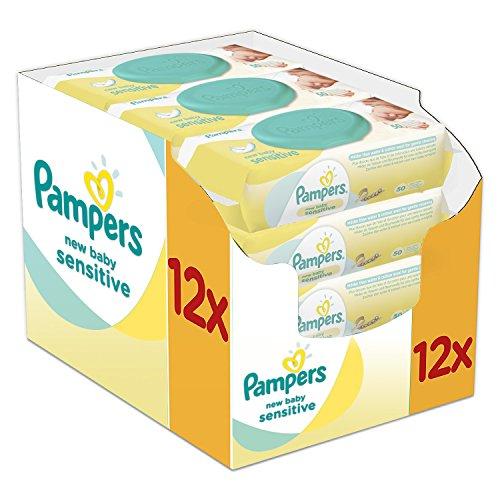 Pampers New Baby Wet Wipes Sensitive, paquet de 12 (12 x 50...