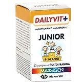 Massigen Dailyvit+ Junior 4-14 Anni 40 Compresse Fragola - Integratore per Bambini