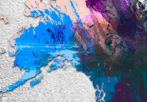 murando Modernes Acrylglasbild 120x80 cm - Glasbilder - 3 Teilig - Wandbilder XXL - Kunstdrucke - Wandbild - Weltkarte Welt Karte Kontinent Landkarte k-A-0098-k-e - 8