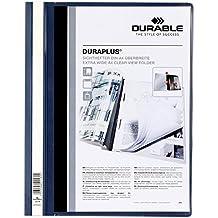 Durable - DURABLE Chemises a lamelles DURAPLUS, format A4, bleu fonce