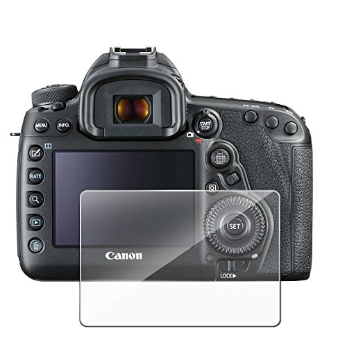 Myecogo Protecteur d'écran pour caméra (écran et objectif) pour Canon EOS 5d Mark IV 5d Mark 4MK4, Film de Protection d'écran en verre trempé ultra transparent avec capuchon pour objectif d'appareil photo DSLR Canon EOS 5d Mark IV Mark 4