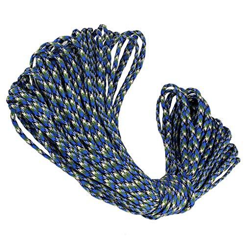 Cdrox 100m 5mm 7adrig Camping-Zelt Fix Weaving Bindung Regenschirm Seil geflochtene Schnur Outdoorrettungsleine