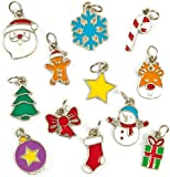 Christmas Charms for Children to Create Jewellery (Pack of 24)