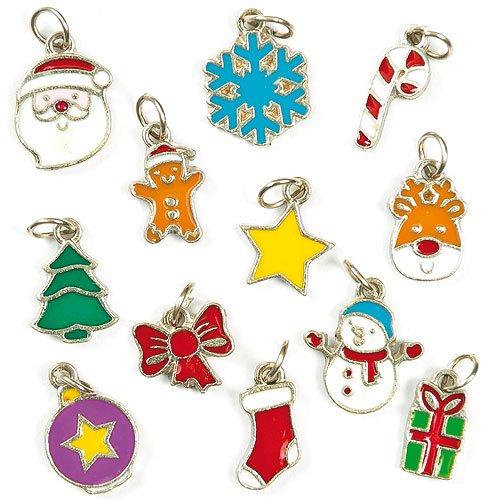 Schmuckanhänger Weihnachten für Kinder zum Basteln toller Accessoires (24 Stück)