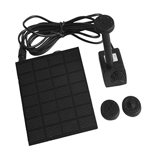 MagiDeal Solar Pumpe Springbrunnen Kit, Wasserpumpe mit Solar Panel für Gartenteich Springbrunnen (Niedrige Umgebungs-kit)