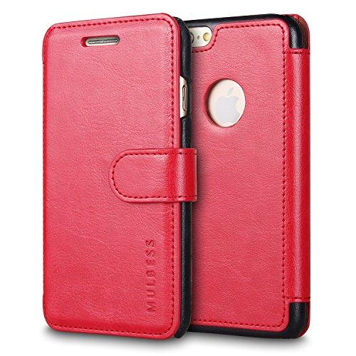 Mulbess Funda para iPhone 6s Plus con Tapa es una práctica carcasa de protección con ranuras de tarjetas de crédito, clip de efectivo, función de broche magnético.La piel sintética de alta calidad se fabrica usando un recubrimiento de resina de PU so...