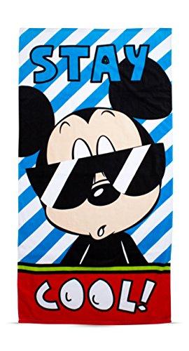 �Mickey Mouse Strandtuch, Lizenzprodukt, Baumwolle, 150x 75cm, Blau ()