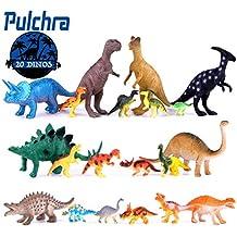 Pulchra Figura de dinosaurio Creatividad educativa 20 piezas Bloque de pantalla 8 Tamaño grande + 12