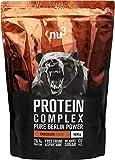 nu3 Protein Complex Chocolate | 1kg de polvo | 76% (22,8g) de proteína por dosis | Whey protein, proteína de suero, BCAA y 18 aminoácidos | Suplemento deportivo para ganar masa muscular