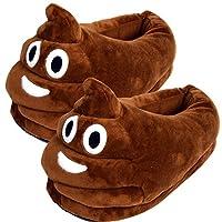 CandoraTM Unisex Soft Cute Cartoon Eyes Pattern Antislip Indoor Slippers Winter Warm Shoes Plush Home Slippers