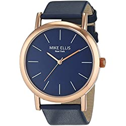 Mike Ellis New York Women's Quartz Watch with Blue Dial Analogue Display and Leather Look aqua - SL2979D