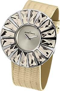 Jacques Lemans La Passion Damen-Armbanduhr XL Flora Analog Leder 1-1638K