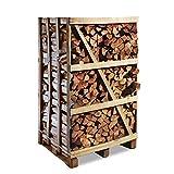 Premium Brennholz Buche kammergetrocknet 1,8 Raummeter 25 cm Scheitlänge, ca. 700 kg bei 15-20% Restfeuchte, Feuerholz, Kaminholz, Scheitholz