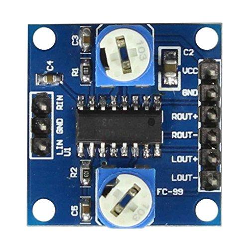 Minzhi PAM8406 Digital-Verstärker-Brett mit Lautstärkepotentiometer Stereo Noiseless Verstärkermodul D Klasse 2x5W