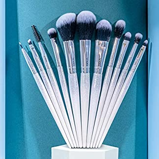 Viala Kit de Brochas Maquillaje 11 Piezas belleza Maquillaje Pinceles Profesional Brochas Maquillaje Cejas Cepillo de Labios Delineador Brochas