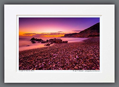 111217-72-twilight-at-kourion-beach-a3-matted-fine-art-photograph-sunset-landscape-best-for-home-and
