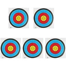 5x Objetivo Tiro Con Arco Se Enfrenta Papel Grueso Calibre Para Arco Recurvo Ballesta - Blanco, 60 * 60cm