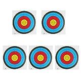 Generic 5 Pezzi Obiettivo Tiro con L'arco Si Trova Di Fronte La Carta Di Grosso Spessore Per Balestra Arco Ricurvo - 58 x 58cm