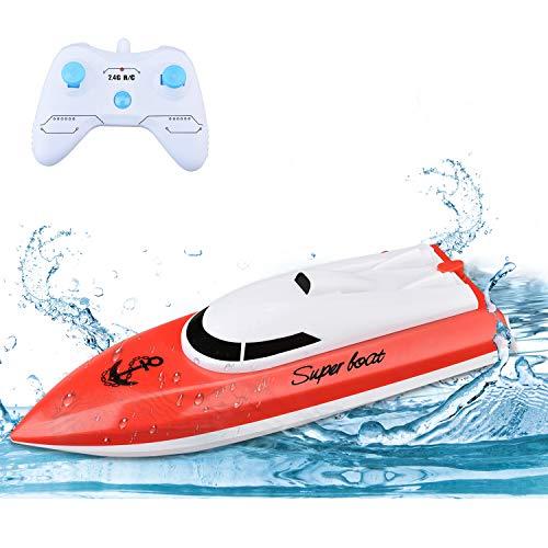 TOYEN RC Boot Mini Fernbedienung Boot 2,4 GHz Outdoor Pools Seen Racing Boote Elektrisches Spielzeug für Kinder