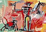 Jean-Michel Basquiat – Boy and Dog in a Johnnypump 1982 Poster Drucken (69,85 x 49,86 cm)