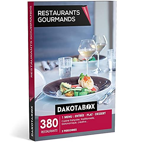 DAKOTABOX - Coffret Cadeau - RESTAURANTS GOURMANDS - 440 restaurants : 1 menu : entrée ? plat ? dessert. Cuisine française, traditionnelle, bistronomique, créative…