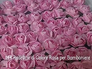 144 FIORELLINI ROSELLINE ROSA per BOMBONIERE SPOSI COMPLEANNO