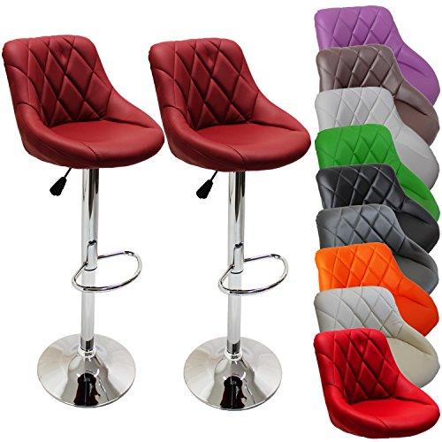 2er Set Barhocker Barstuhl 10 Farben wählbar, 360° frei drehbar, Sitzhöhenverstellung 60-80cm