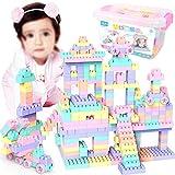 Montage 75 Große Partikel Kunststoffblöcke Warme Farbe für Früherziehung Kreative Kinder Puzzle Spielzeug