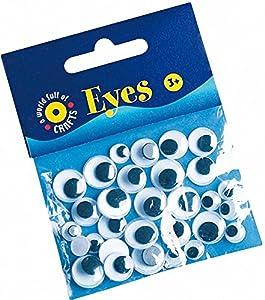 Playbox - Ojos Googly (Blanco y Negro) - Ï 7, 10 y 12 mm - 30 Piezas - (PBX2470035)