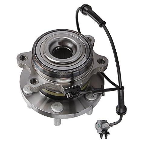 Front Wheel Bearing Kit 40202-JR70B w/ABS Sensor & Nut For 2005-On Nissan Navara 2.5 D40 Pathfinder From Madlife