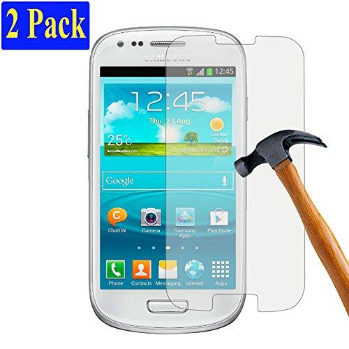 [2er Pack] plt24 Ultra-Klar Glasfolie Panzerglas Schutzfolie Bildschirmschutzglas Schutzglas Hartglas kompatibel mit Samsung Galaxy S3 / S3 neo (2 Stück)
