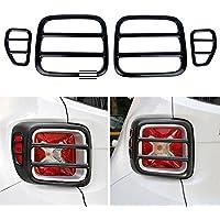 i-Shop - Juego de 4 protectores de luz trasera metálicos, para faros traseros