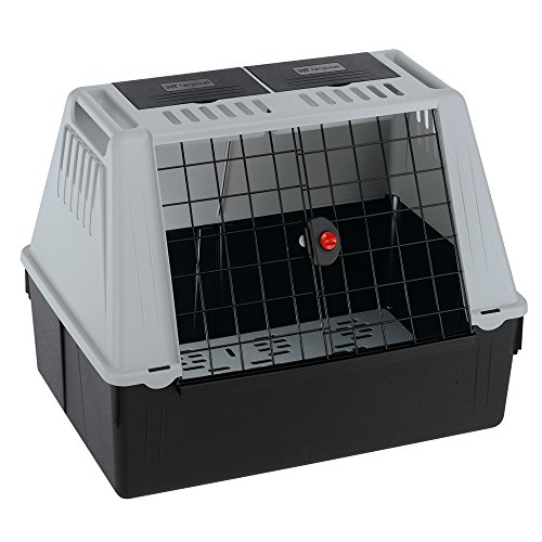 Ferplast 73080021W1 Autotransportbox ATLAS CAR 80, für Hunde, Maße: 82 x 51 x 61 cm, grau