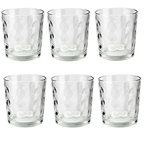 Vasos de cristal (6 unidades, 255ml)