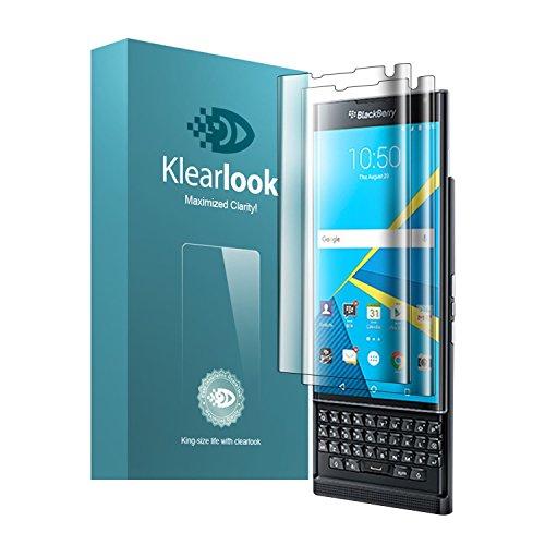 Klearlook® BlackBerry Priv Bildschirm Schutzfolie [3x Verpackt] [Gekrümmte Volle Abdeckung] HD Display-Schützer Kristallklar Volle Schützung / Explosions Widerstand TPU