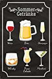 Estate bevande barschild, Lavagna, vino, birra, Champagne, Whisky, Pina Colada, Martini, Alcol