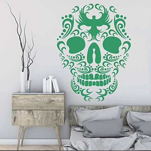 WWYJN Eco-Friendly Wall Stickers Death Skull Head Bird Patterns Home Decoration Stickers Art Mural Vinyl Decals42x57cm Tweety Bird Vinyl