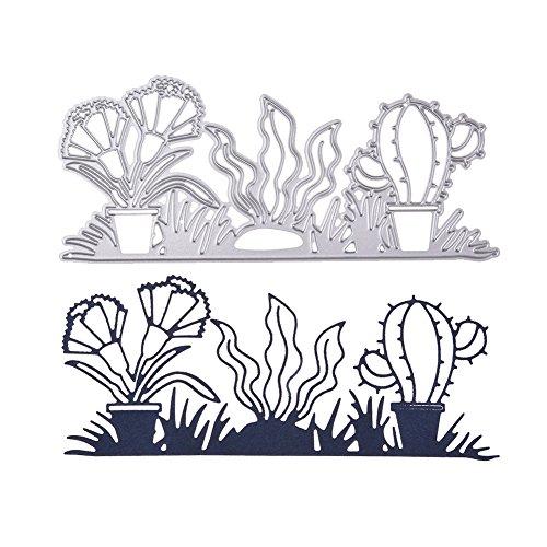 berrose Fancy Rahmen Punch Flower Design prägestempel Scrapbooking Handgefertigte Edge-gerät DIY-stanzformen Metall Schablone Template Mold DIY präge für Album Papier Karte Kunst Handwerk Decor