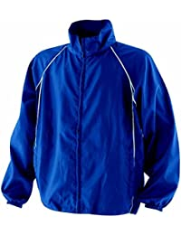 Finden & Hales Piped Showerproof Training Jacket - Royal/Royal/White - S