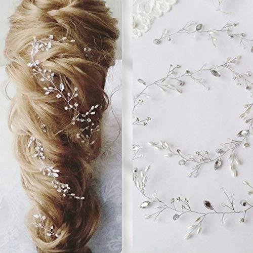 simsly Hochzeit Haar Vines Brautschmuck Headbands mit Kristall Haar Zubehör für Braut und Brautjungfern fs-196