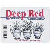 Deep Red Stamps Maceta pln-deep Rojo Sellos, acrílico, multicolor