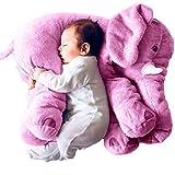 KiKa Monkey Baby-weiches Plüsch-Elefant Schlafkissen Kids Lendenkissen Spielzeug Large Size (Groß, Lila)