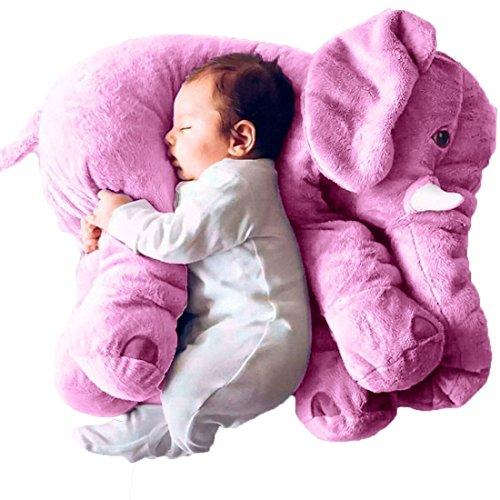 sdtdia Almohada de Elefante, Animales de Peluche, Almohadas de Felpa para bebés Que Duermen Juguetes de Peluche (Púrpura, 60CM)