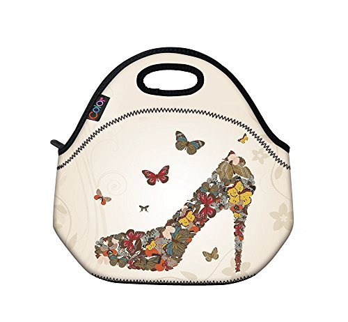 icolor-high-heel-girls-insulated-neoprene-lunch-bag-tote-handbag-lunchbox-food-container-gourmet-tot