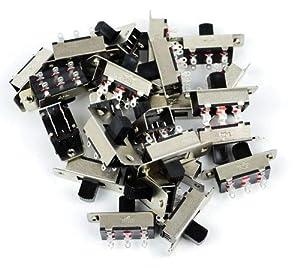 Gaugemaster BPGM502 DPDT Centre Off Slide Switches (25)