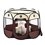 Zaote Portable Pet Dog Cat Playpen Foldable 8-side Puppy Kitten Rabbit Guinea Pig Play Pen