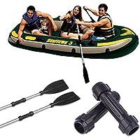 Aprettysunny - Conector de Eje de Remo para Barco de Pesca, Kayak, Kayak, 1 Unidad, de PVC