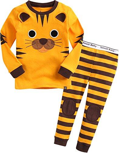 Vaenait Baby Kinder Jungen Nachtwaesche Schlafanzug-Top Bottom 2 Stueck Set Tie Tiger M